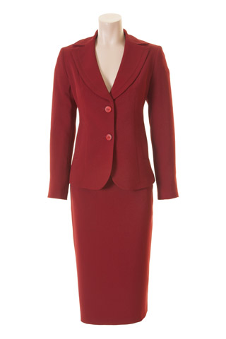 Click for larger image of: Red Skirt Suit Style: 44427 / 44414