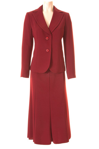 Click for larger image of: Red Skirt Suit Style: 44427 / 44420