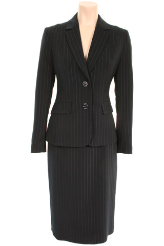 Click for larger image of: Stripe Black Skirt Suit Style: 44385 / 44387