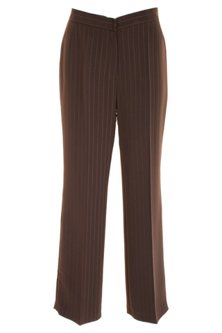 Click for larger image of: Stripe Brown Trousers 31