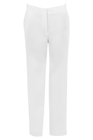 Click for larger image of: White Stretch Trousers Style: 44465